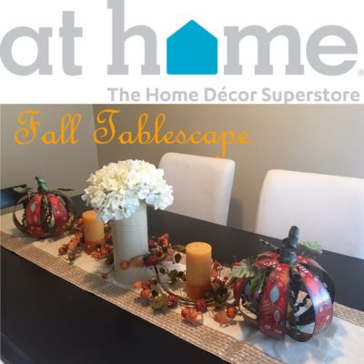 Fall Tablescape with the At Home Store
