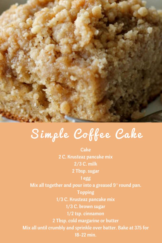 Great Easy Coffee Cake Recipe