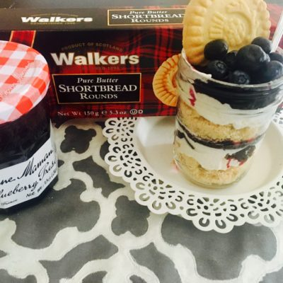 Summer Blueberry Trifle In A Jar