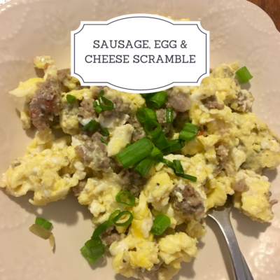 Sausage, Egg & Cheese Scramble