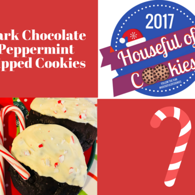 Dark Chocolate Peppermint Dipped Cookies
