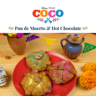 COCO Inspired Pan de Muerto & Hot Chocolate Recipe