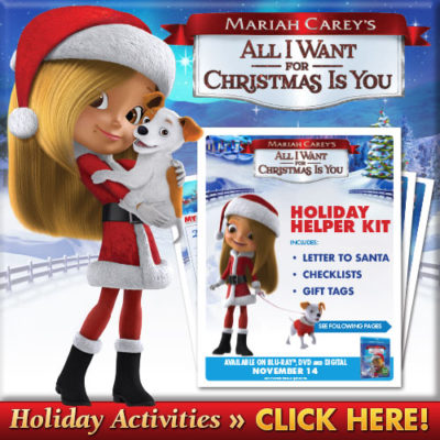 Mariah Carey's All I Want For Christmas~ Giveaway & Activity Sheets!