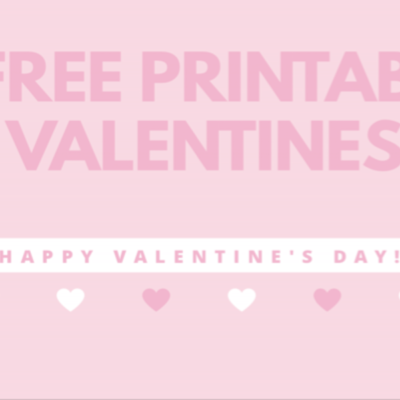 6 Fun Valentines with Free Printable Cards!