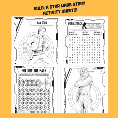 SOLO: A STAR WARS STORY ~ Activity Sheets!