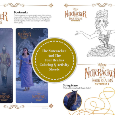 THE NUTCRACKER AND THE FOUR REALMS Coloring & Activity Sheets!
