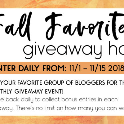Fall Favorites Giveaway Hop!