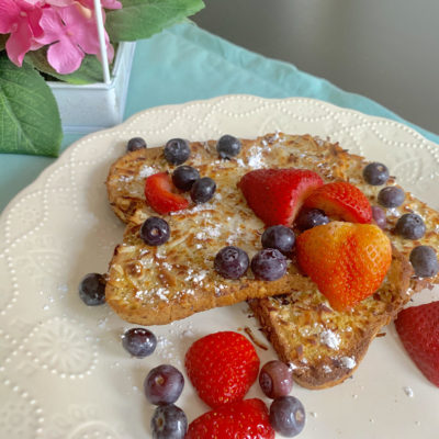 Coconut Berry French Toast