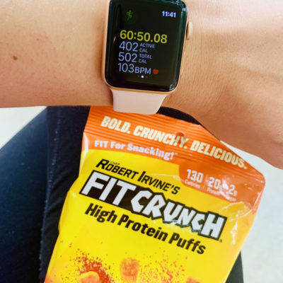 Snack Smarter with FITCHRUNCH Cheddar Cheese High Protein Puffs!