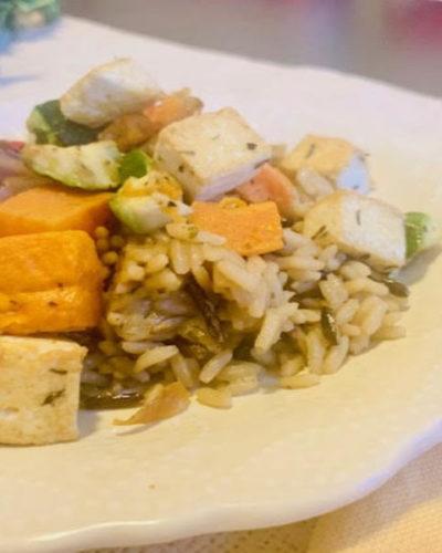 Roasted Veggie Tofu Bowl