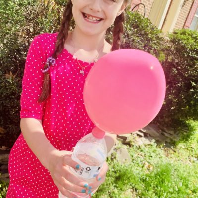 Baking Soda and Vinegar Balloon Experiment ~ At Home Science