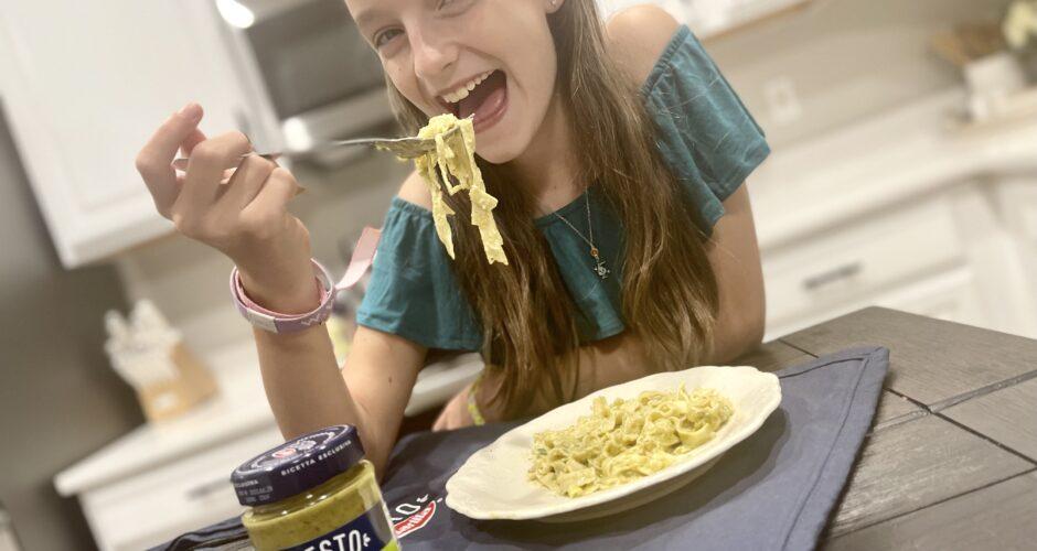 Creamy Pesto Pasta with Barilla Pesto